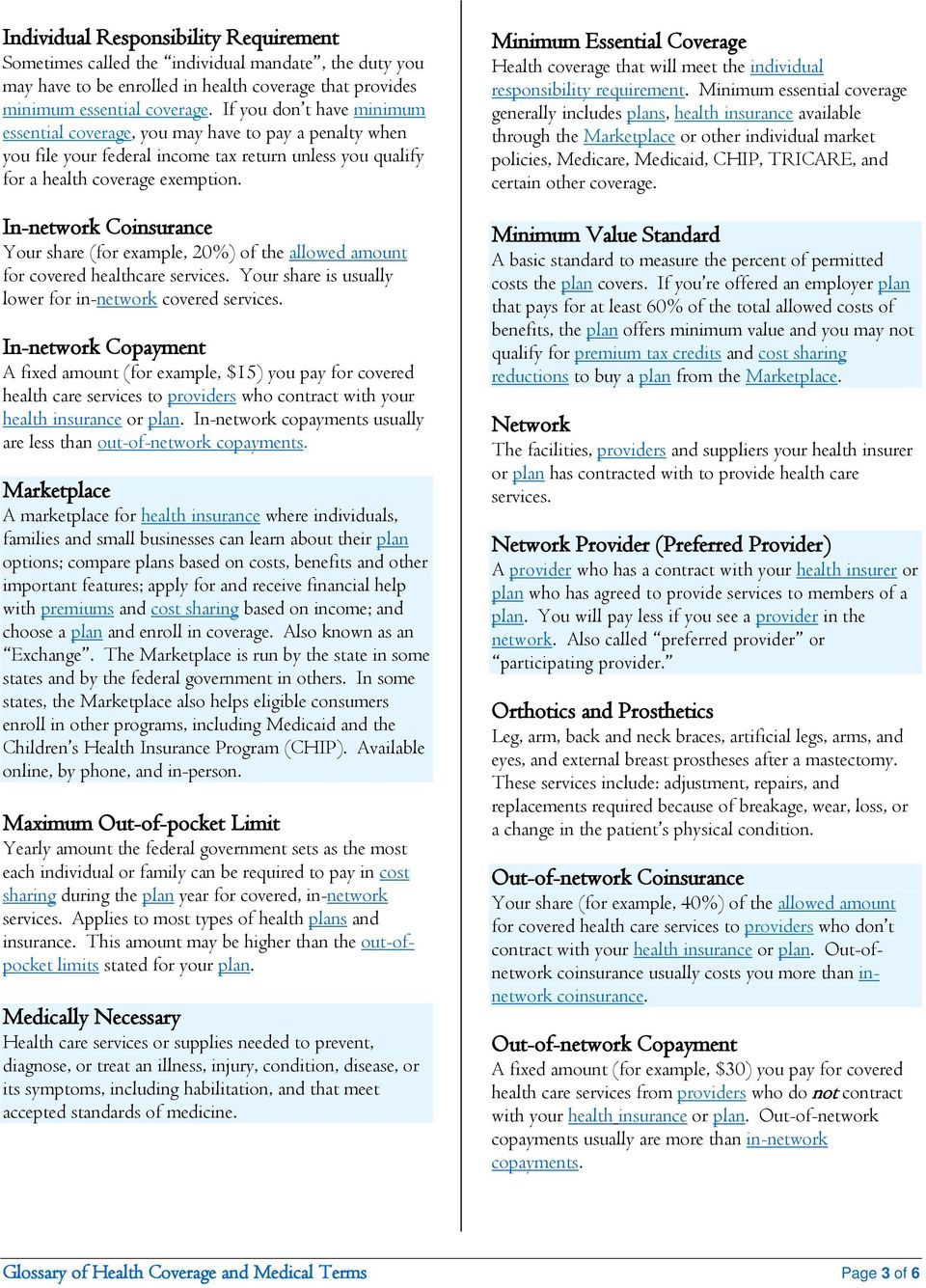 Glossary of Health Coverage and Medical Terms - PDF