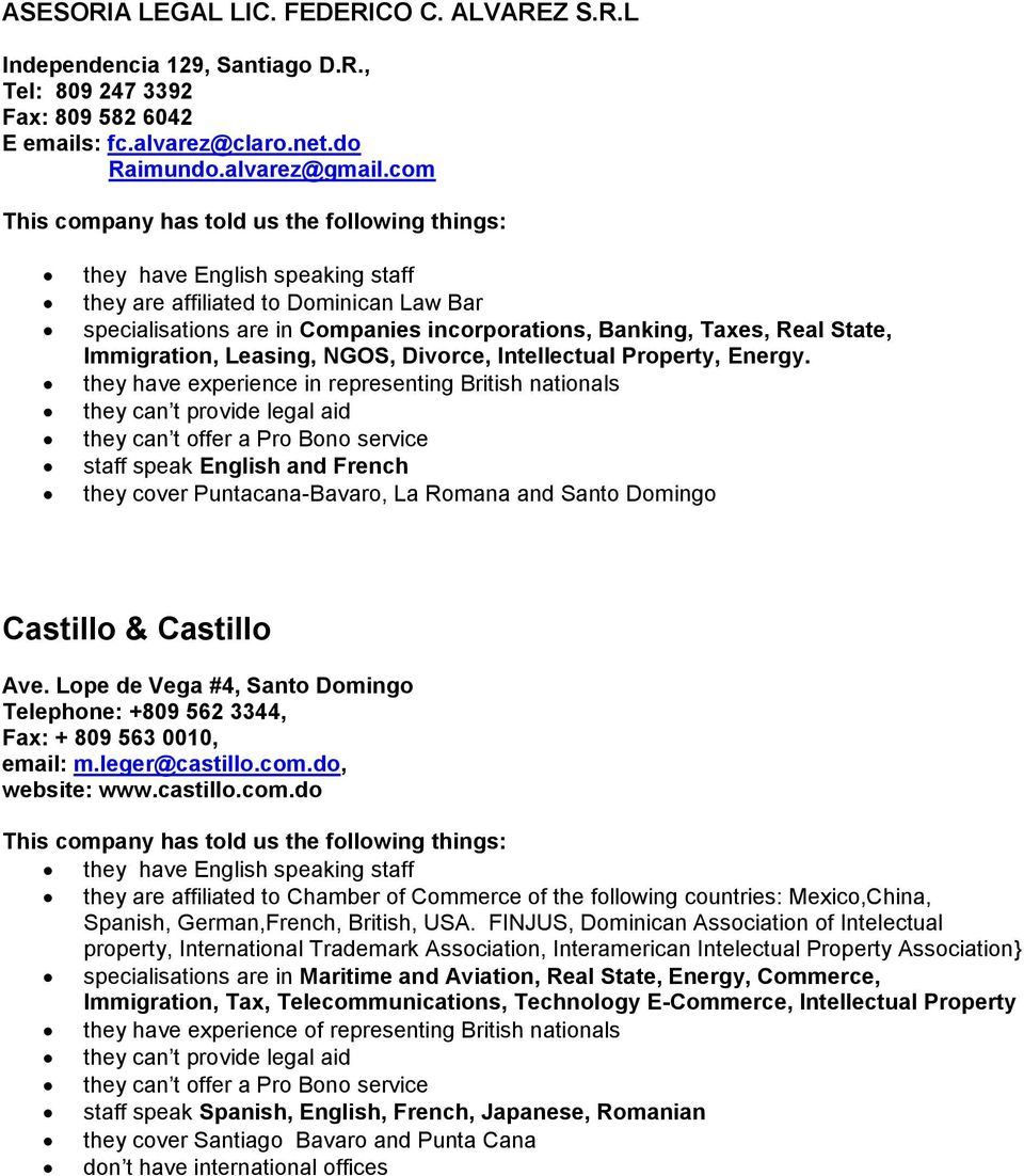 List of lawyers in the Dominican Republic - PDF