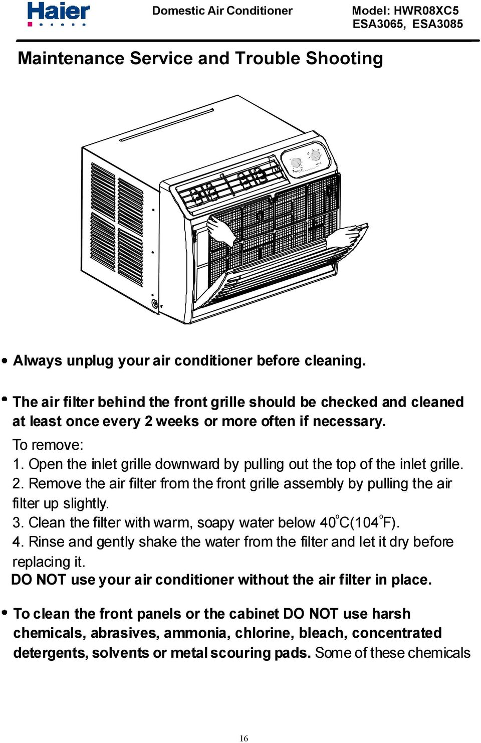 Haier Window Air Conditioner Wiring Diagram from docplayer.net