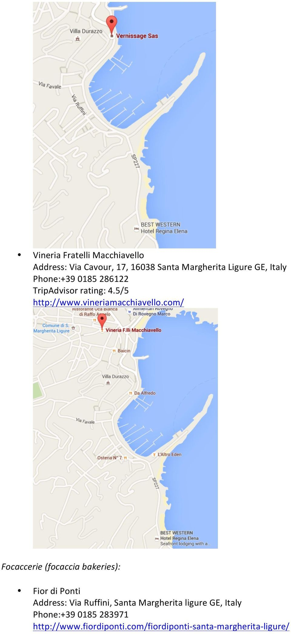 Welcome To Santa Margherita Ligure General Information Recommended