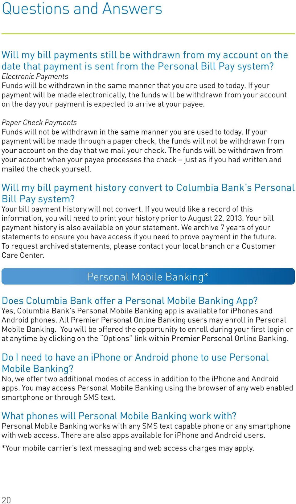 first columbia bank online banking