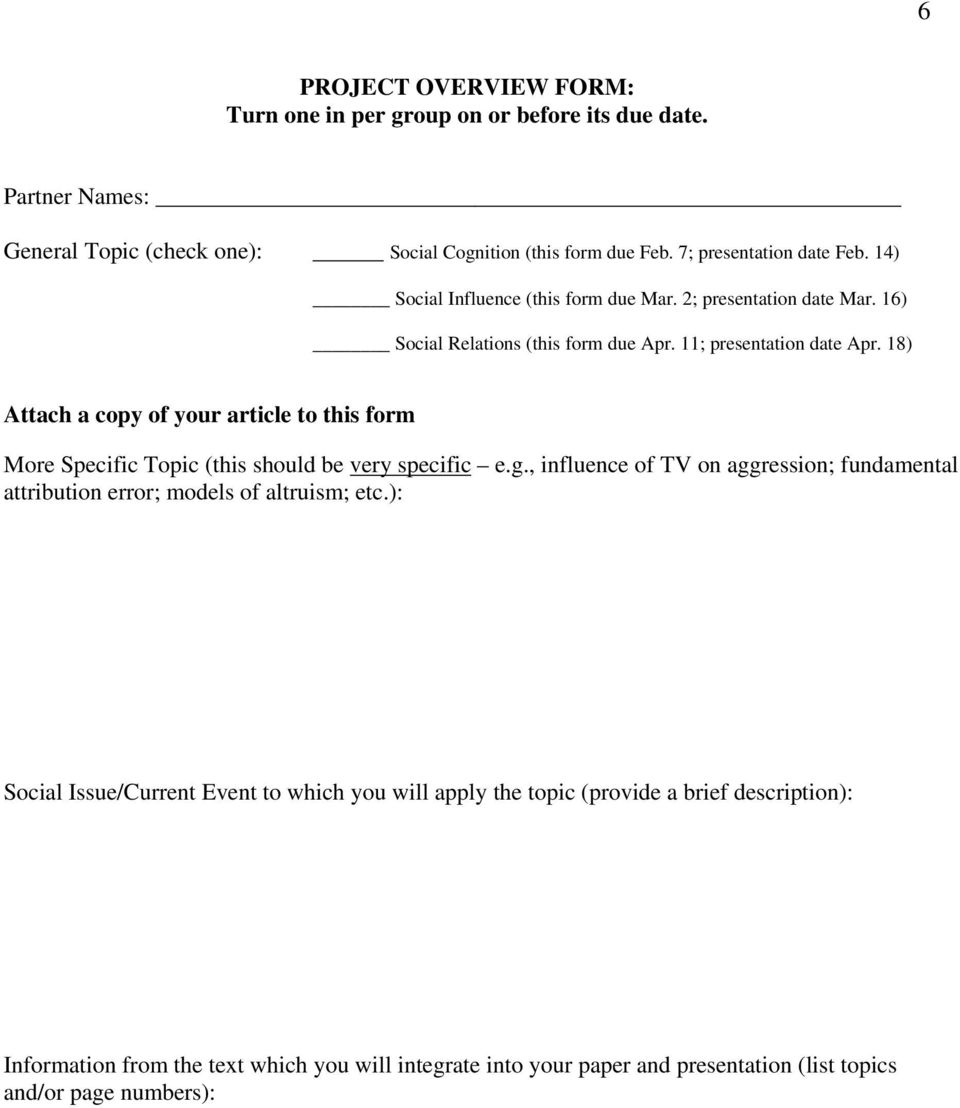 18) Attach a copy of your article to this form More Specific Topic (this should be very specific e.g.