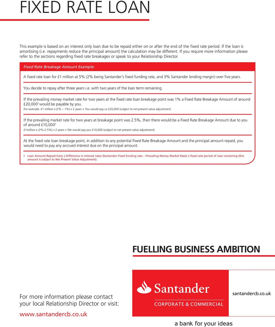 Fixed Rate Loan Lending Solutions To Support Business Pdf Free Download
