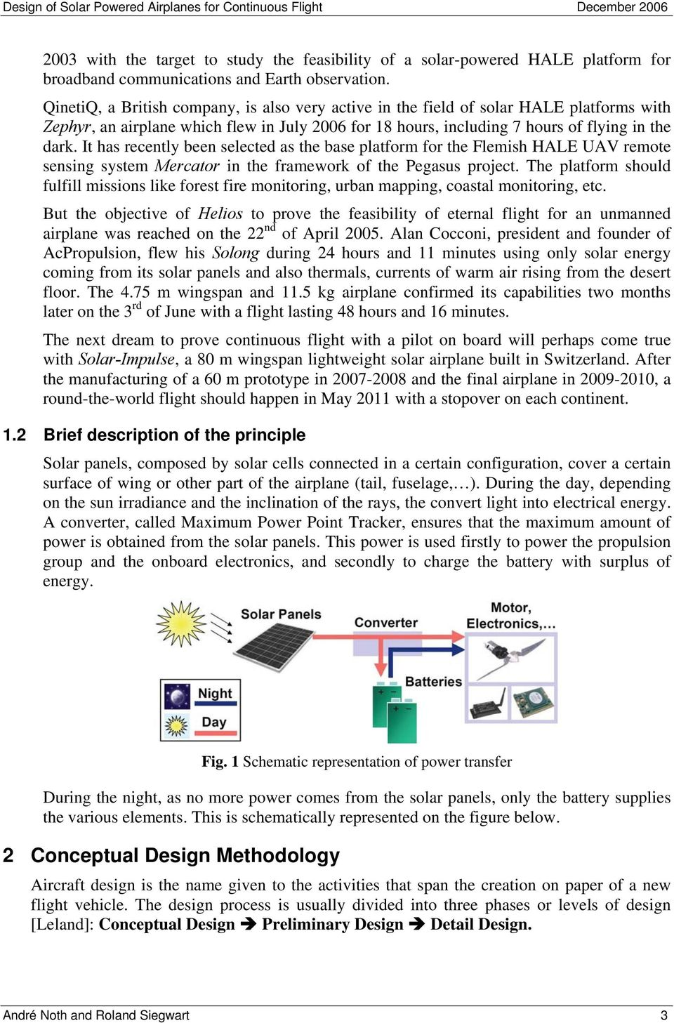 Design of Solar Powered Airplanes for Continuous Flight - PDF