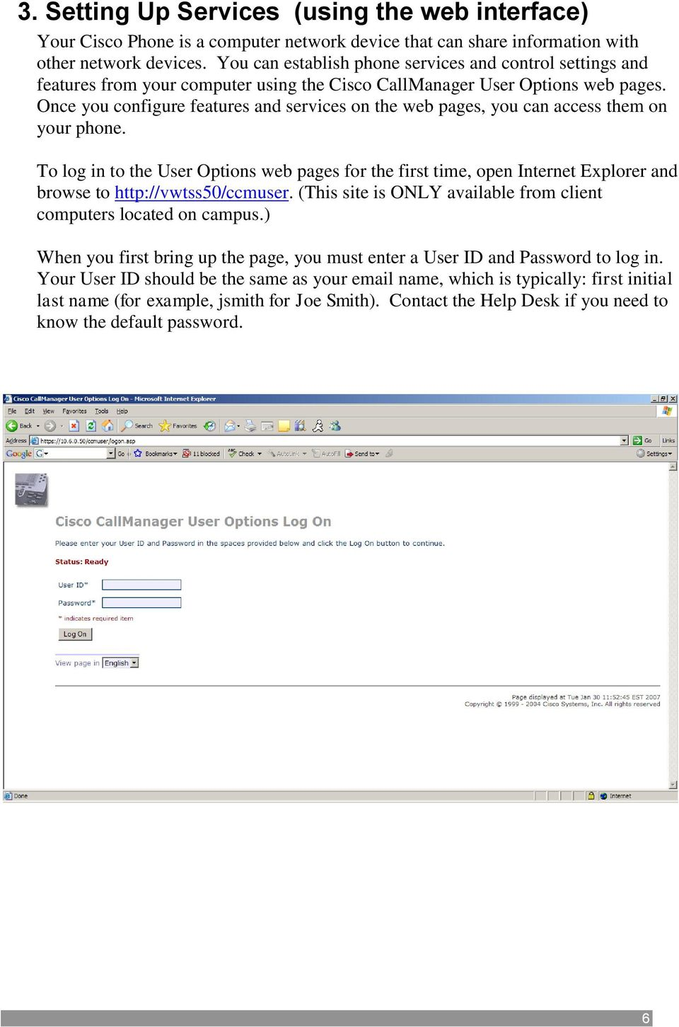 VWCC Cisco Phone Users Guide New Phone setup and