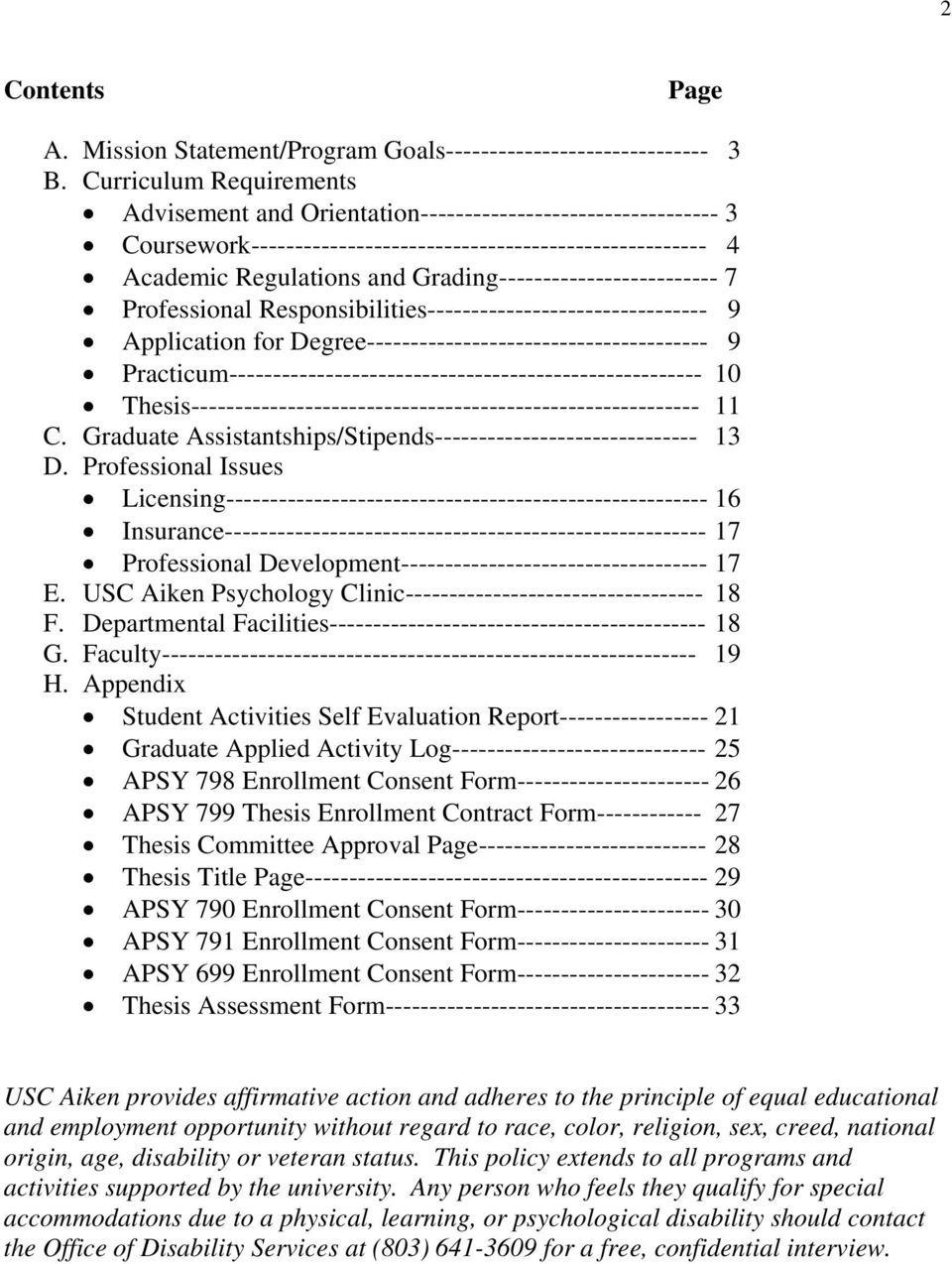 Grading------------------------- 7 Professional Responsibilities-------------------------------- 9 Application for Degree--------------------------------------- 9