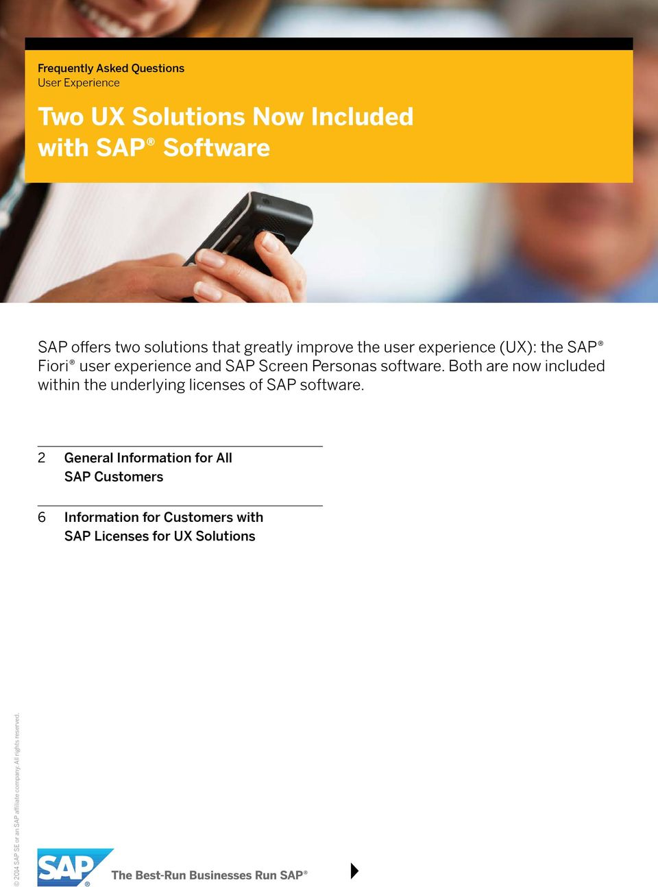 and SAP Screen Personas software.