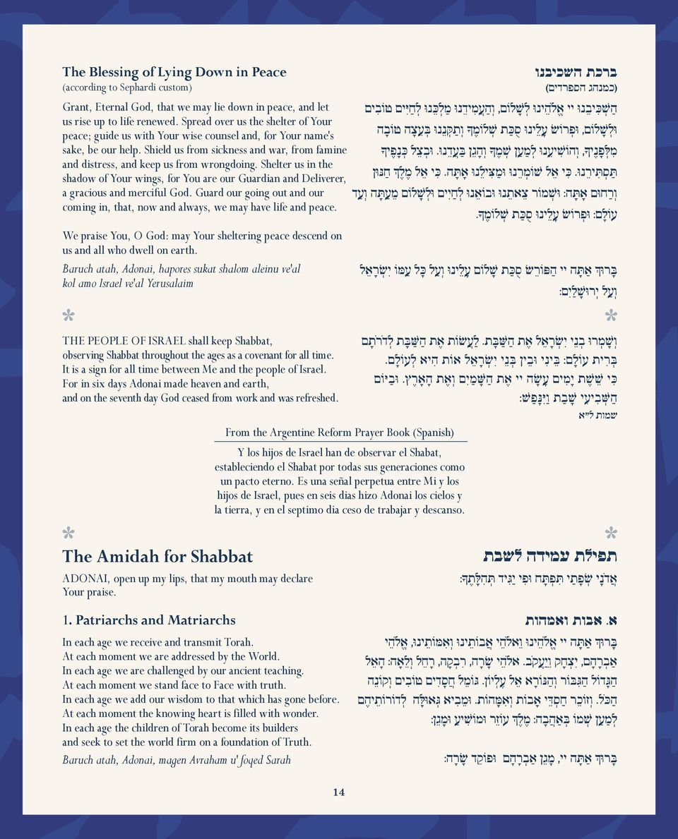 World Union Shabbat Evening Service - PDF
