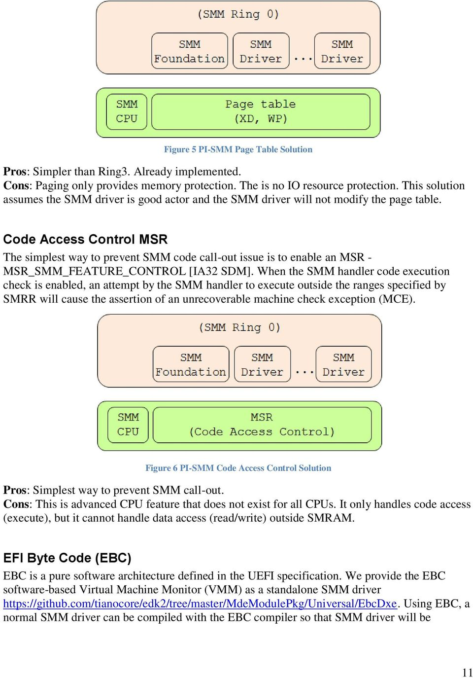 A Tour Beyond BIOS Supporting an SMM Resource Monitor using the EFI