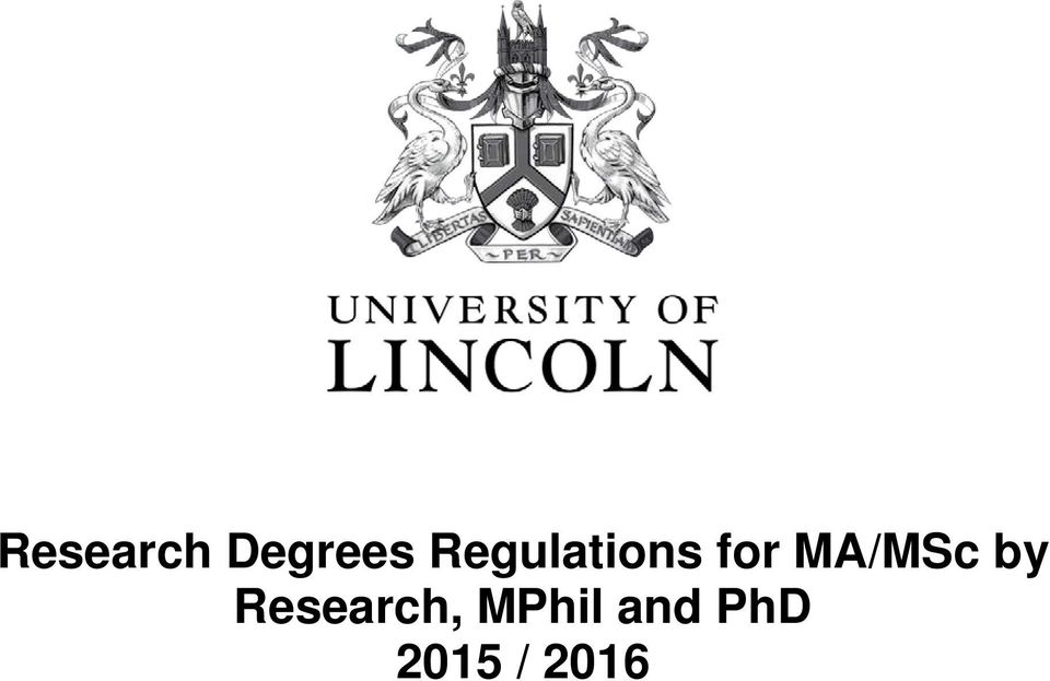 MA/MSc by Research,