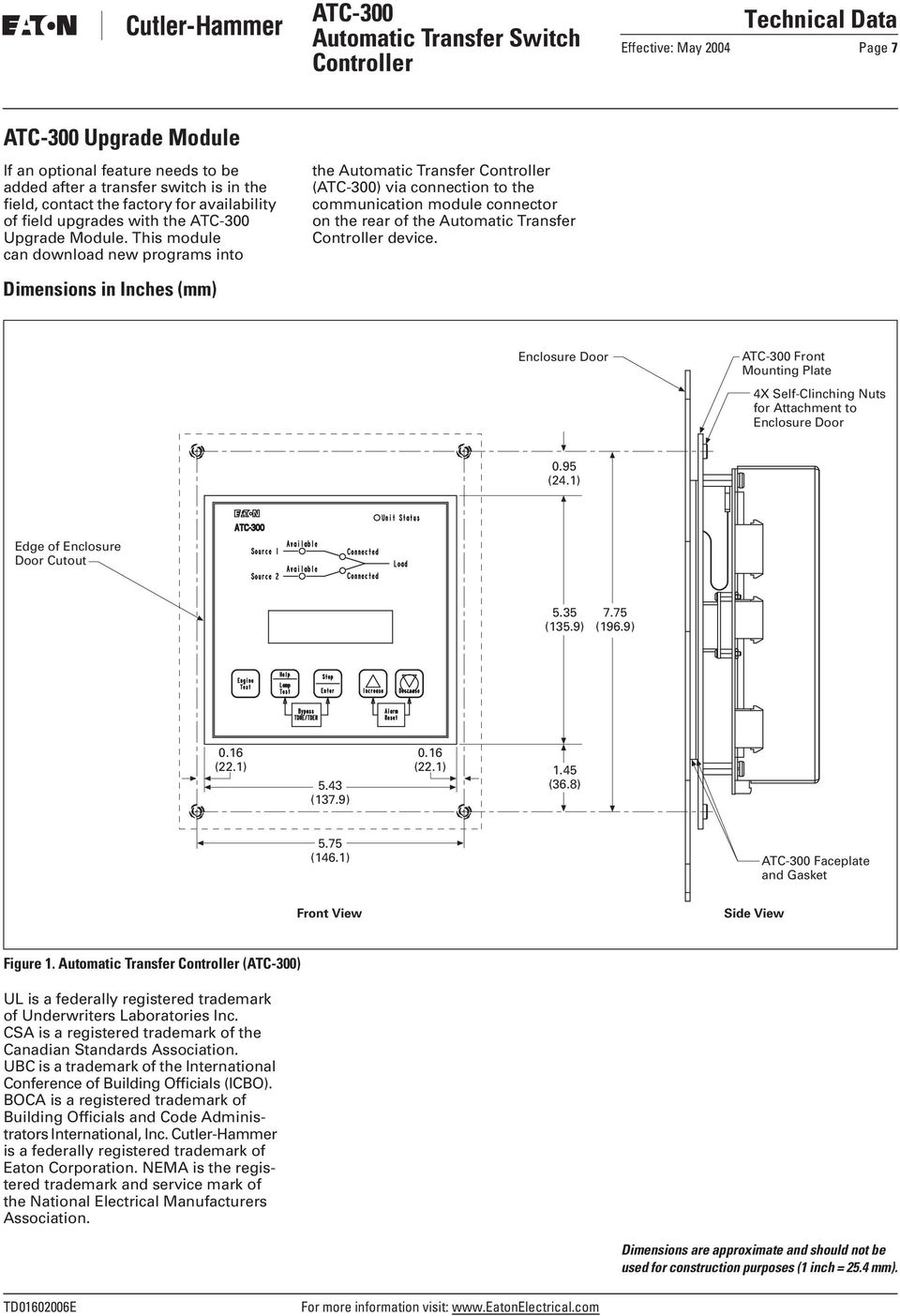 eaton atc wiring diagram atc 300 automatic transfer switch controller pdf free download  atc 300 automatic transfer switch