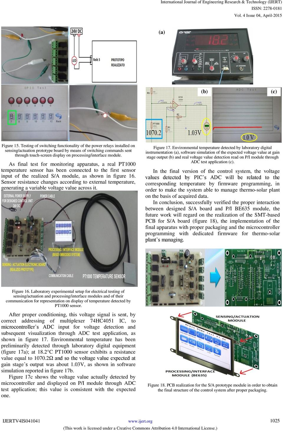 Thermo Solar Plant Managing And Monitoring By Electronic Ac Fan Speed Control Using Android Mobile Microtronics Technologies As Final Test For Apparatus A Real Pt1000 Temperature Sensor Has Been Connected To