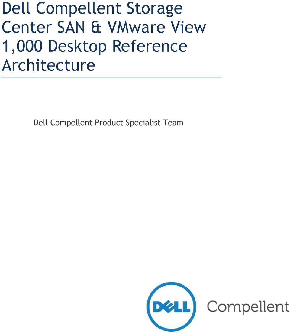 Reference Architecture Dell