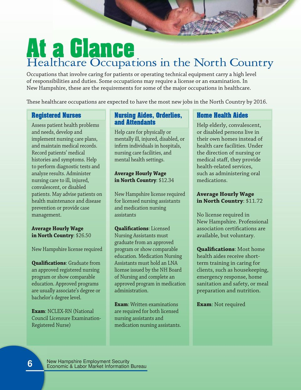 These healthcare occupations are expected to have the most new jobs in the North Country by 2016.