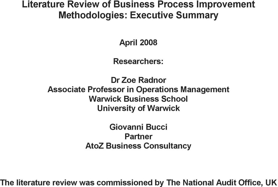Literature review business process improvement help with  music homework
