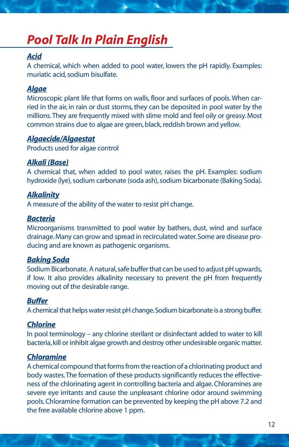 Page # Introduction    2 Disinfecting Agents    3 Alkalinity