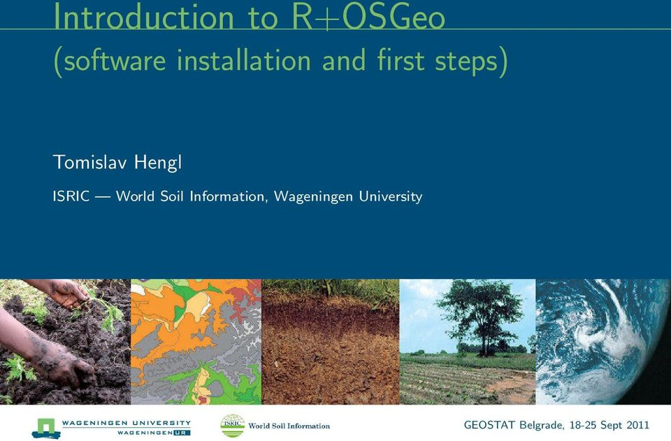 Introduction to R+OSGeo (software installation and first steps) - PDF