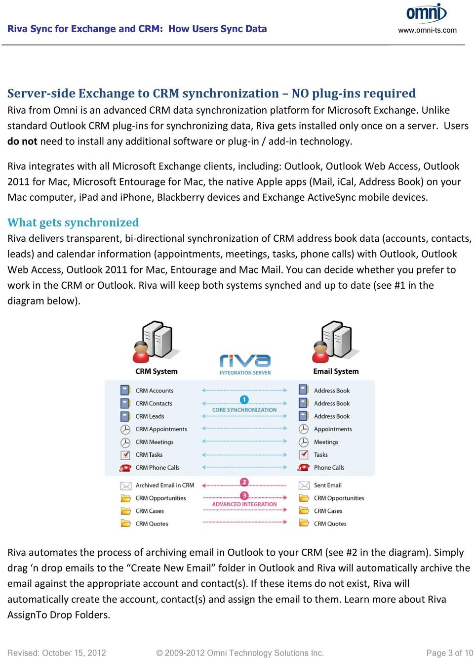 Riva for Exchange and CRM - PDF