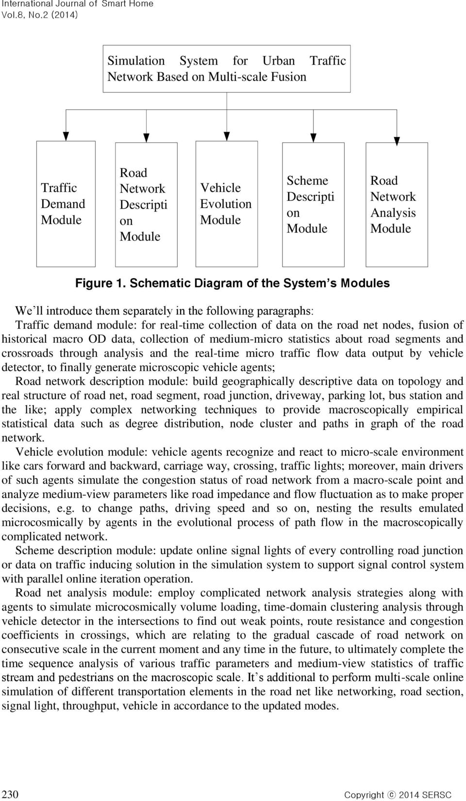 Schematic Diagram of the System s Modules We ll introduce them separately in the following paragraphs: Traffic demand module: for real-time collection of data on the road net nodes, fusion of