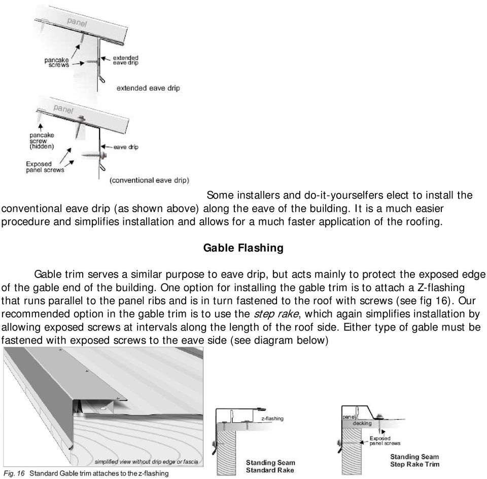 Installation Manual For Standing Seam Roofing Pdf Free Download