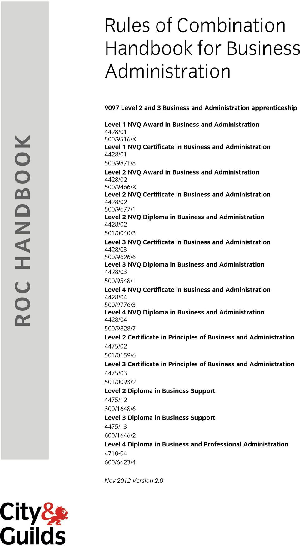 Rules of Combination Handbook for Business Administration - PDF