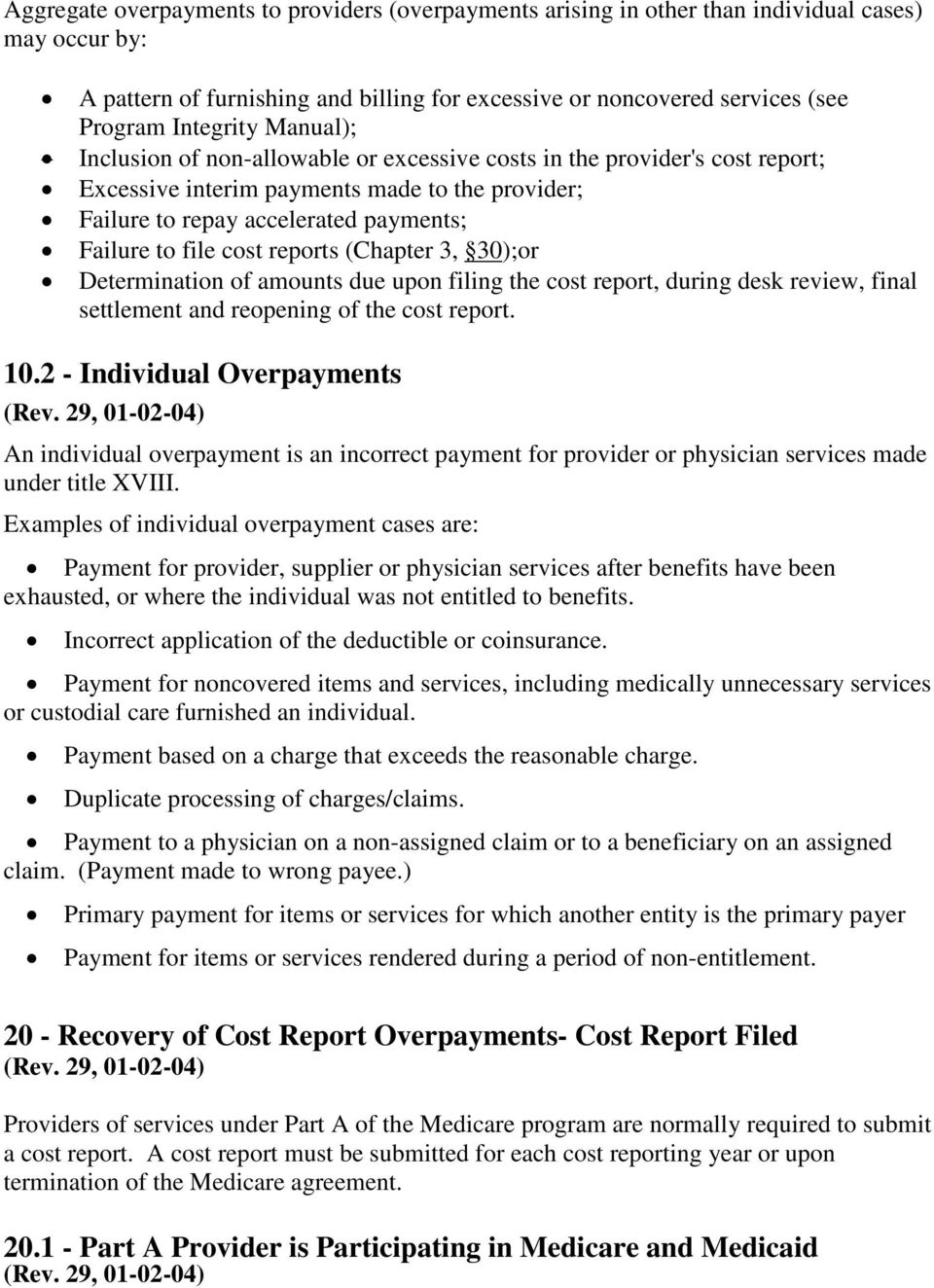 reports (Chapter 3, 30);or Determination of amounts due upon filing the