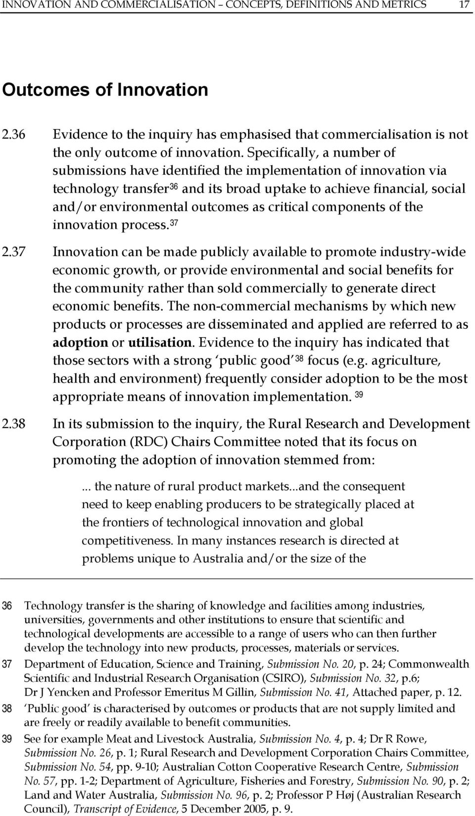 critical components of the innovation process. 37 2.