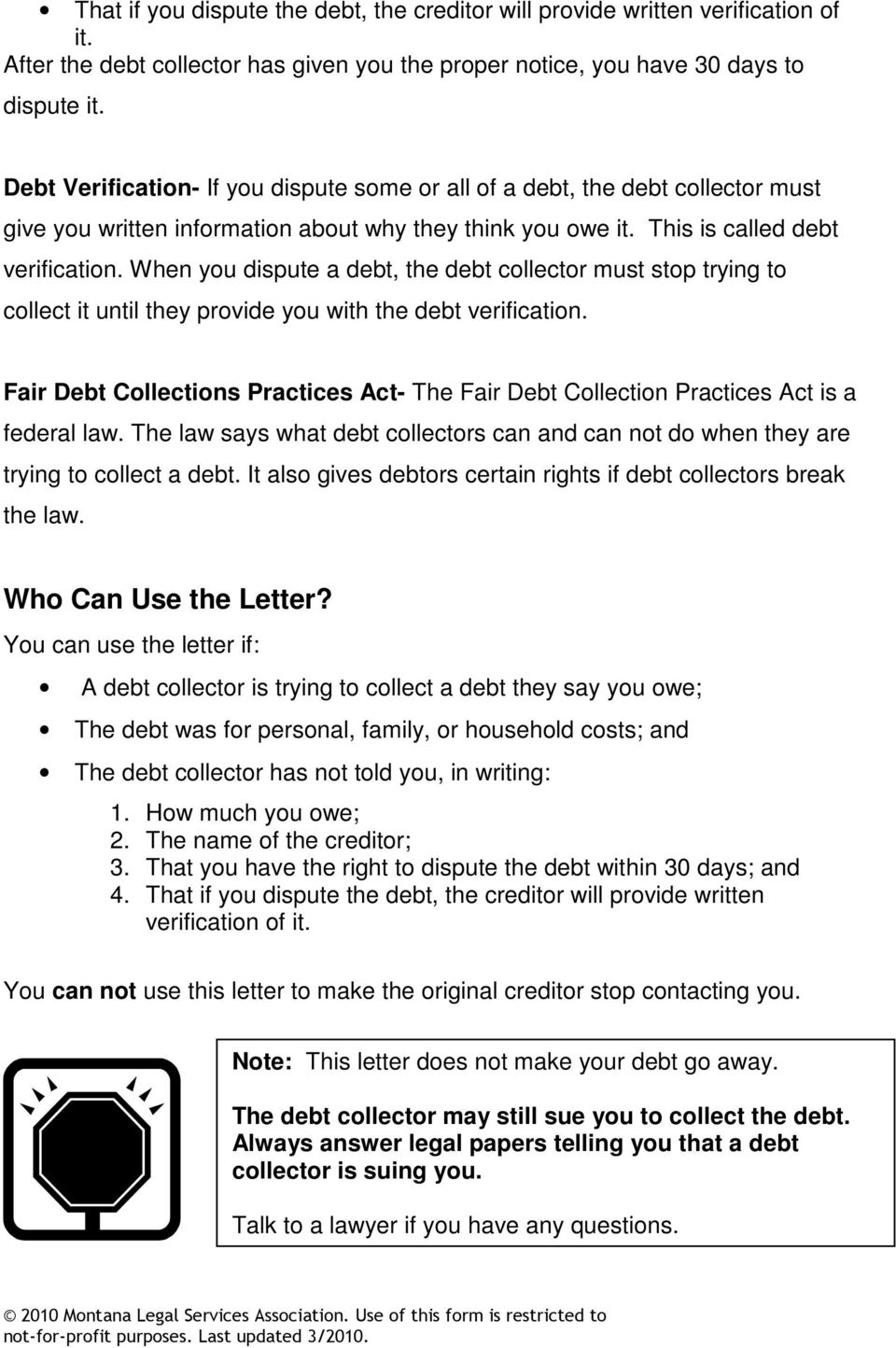 Debt Dispute Letter To Creditor from docplayer.net