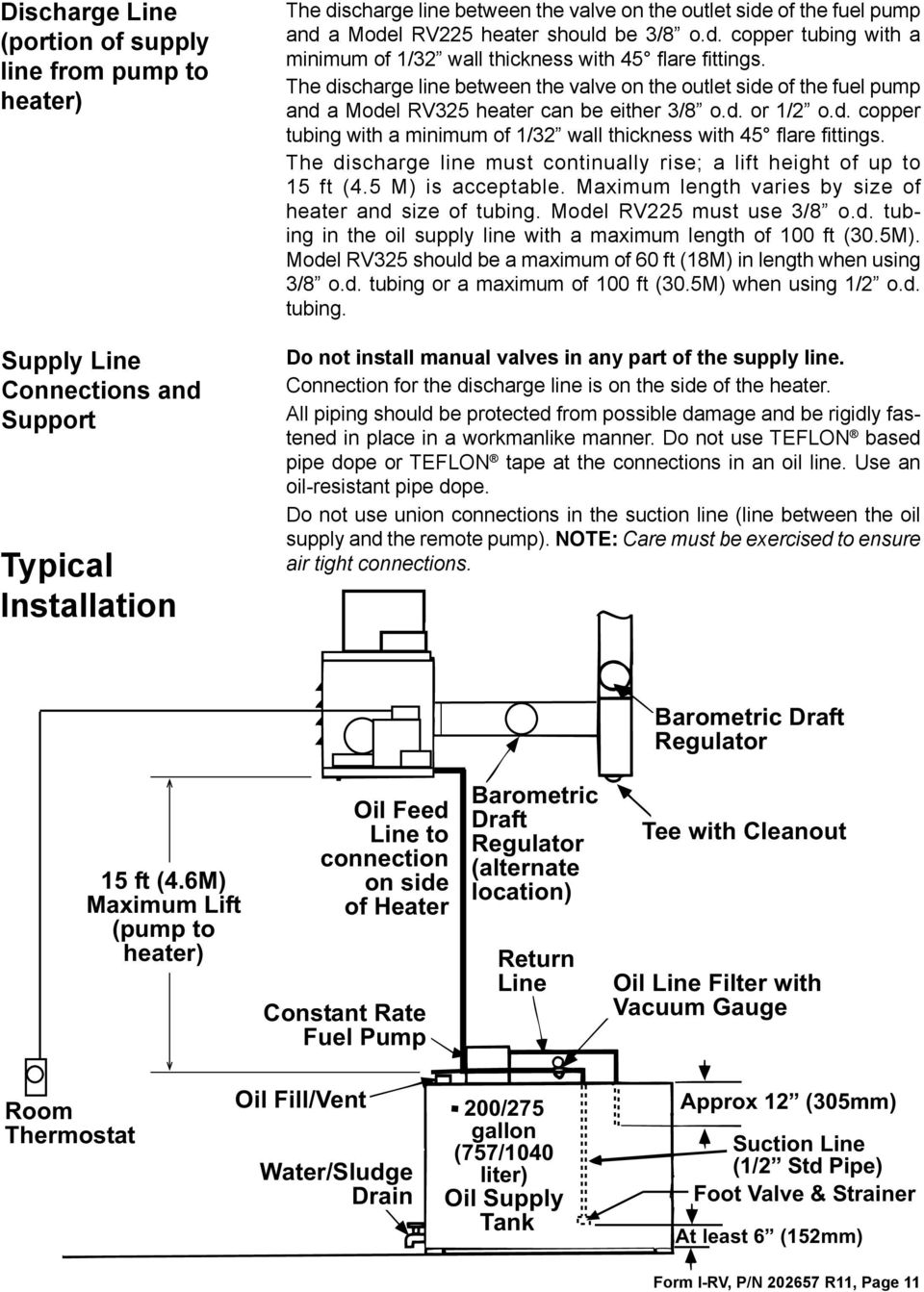 Installation Operation Maintenance Manual And Reference Guide Rv Wiring Diagram Besides 50 Plug On Amp The Discharge Line Between Valve Outlet Side Of Fuel Pump A