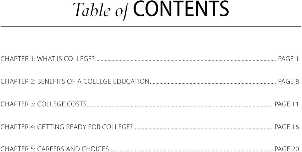.. PAGE 8 CHAPTER 3: COLLEGE COSTS.
