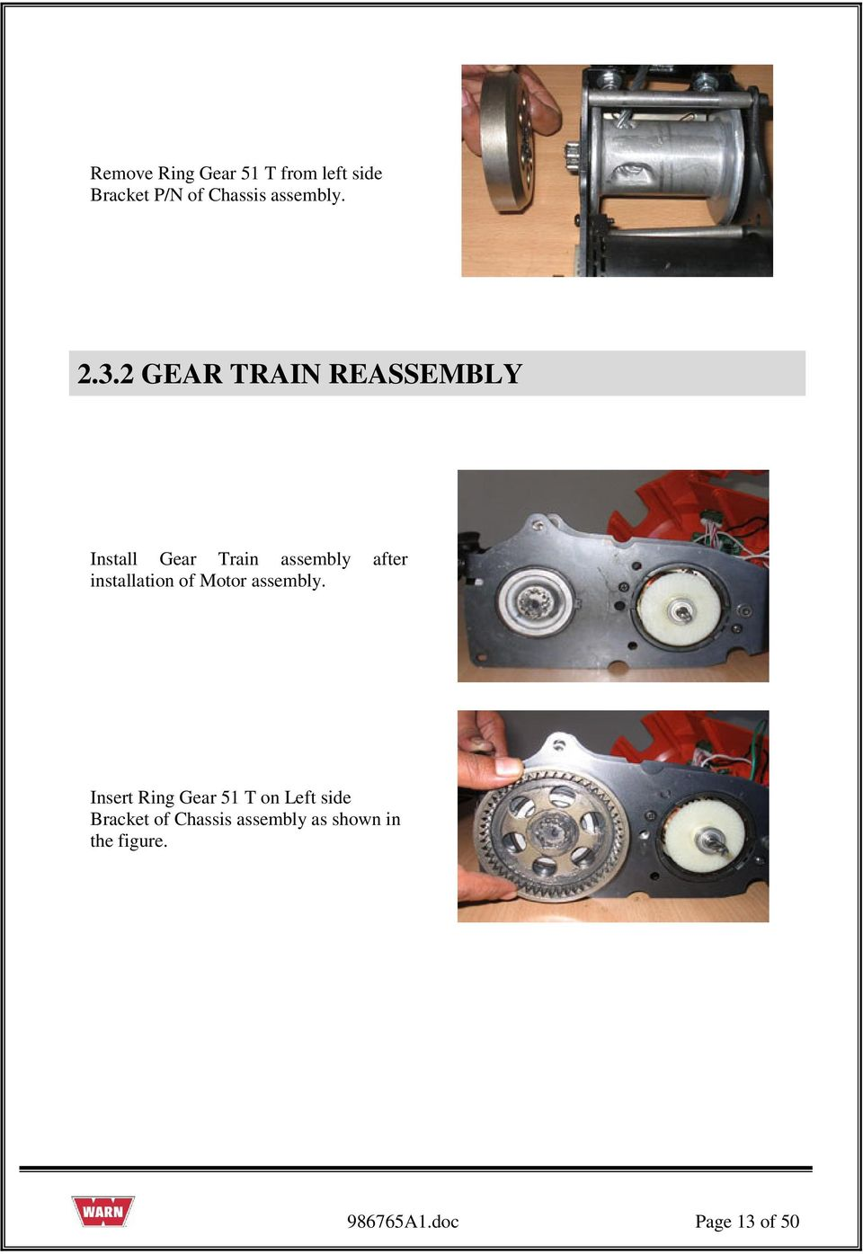 SERVICE GUIDE For WARN PULLZALL 120v AC &100v AC P/N & - PDF on