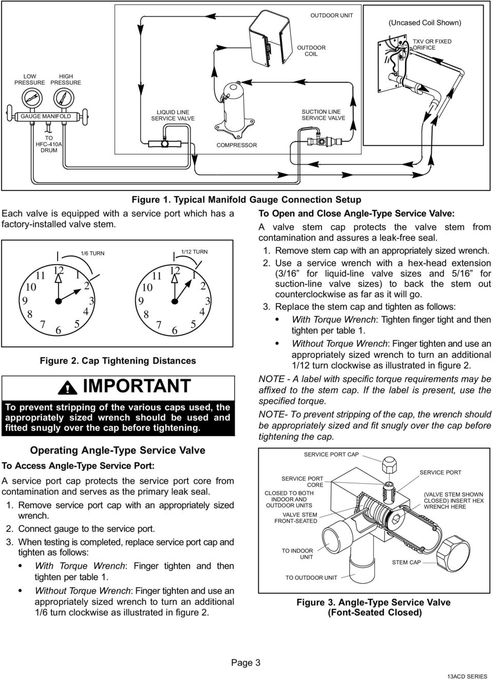 Installation Instructions Pdf Internal Coil Wiring Diagram 12v Compressor Typical Manifold Gauge Connection Setup 11 12 10 9 8 7 6 1 Turn