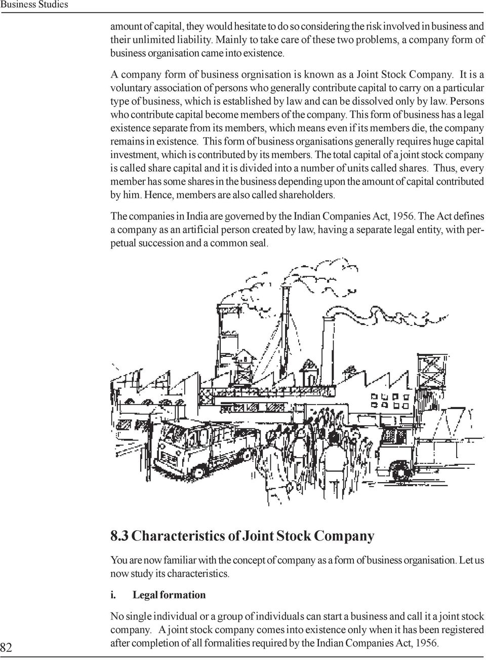 Joint Stock Company Lesson Objectives 82 Meaning Of Joint Stock