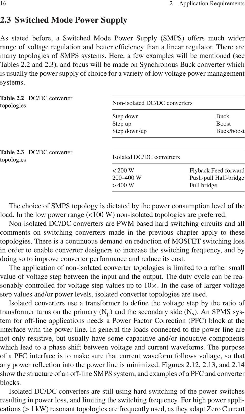 Chapter 2 Application Requirements Pdf Regulated Linear Dc Power Supply There Are Many Topologies Of Smps Systems Here A Few Examples Will Be Mentioned