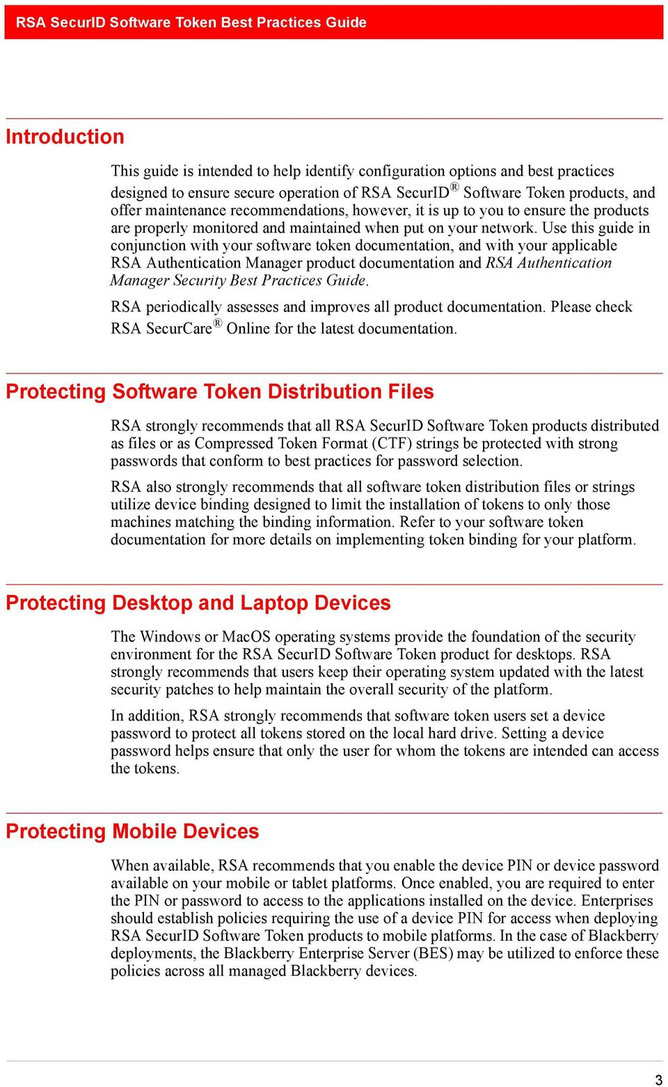 RSA SecurID Software Token Security Best Practices Guide - PDF