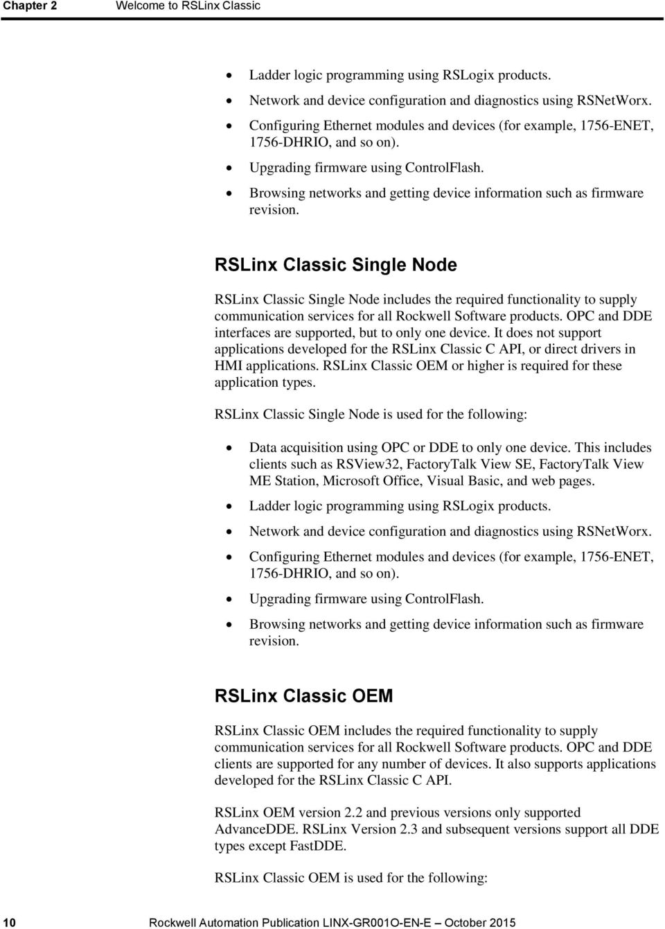 RSLinx Classic Getting Results Guide - PDF
