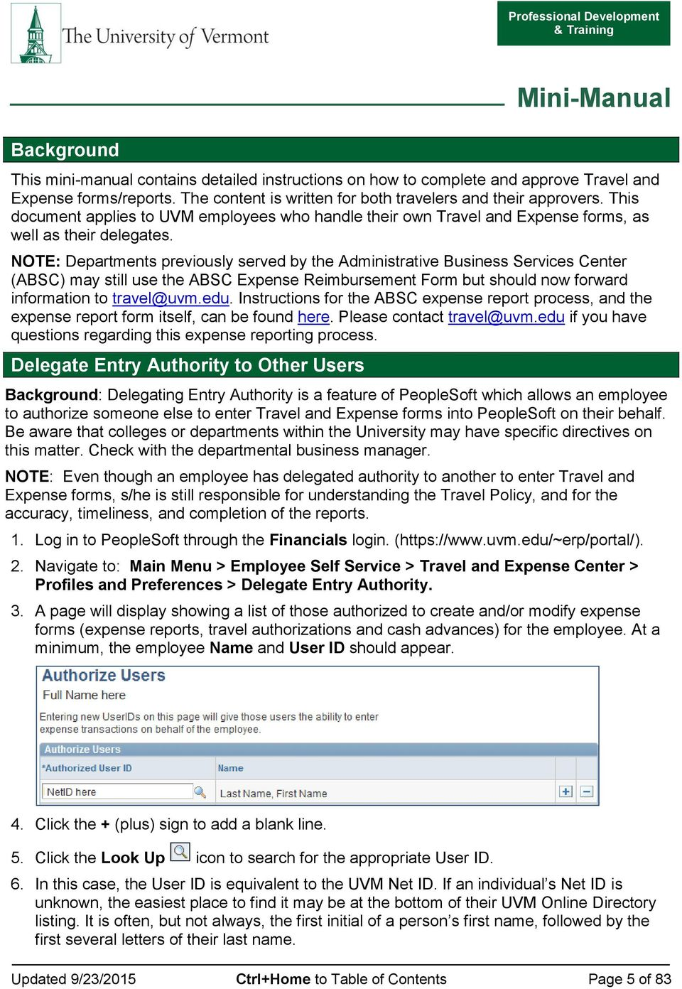 TRAVEL AND EXPENSE CENTER REPORTS PDF Free Download