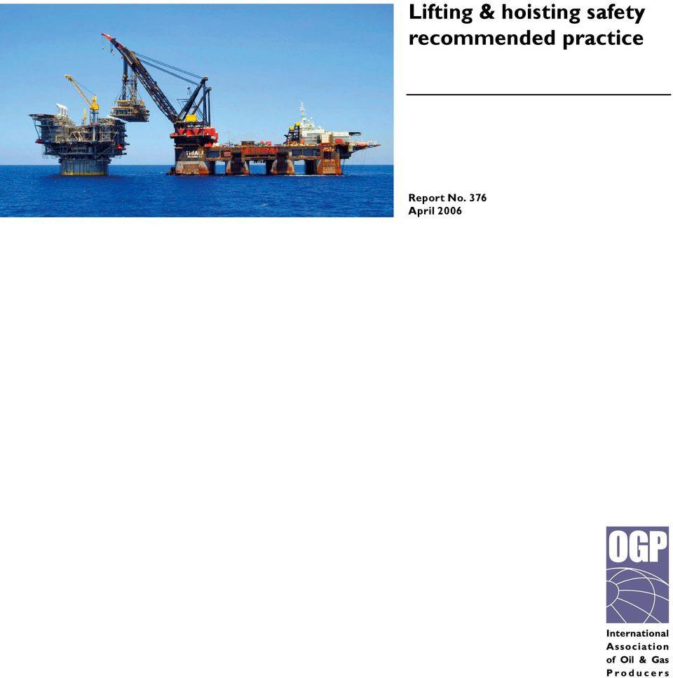 Lifting & hoisting safety recommended practice