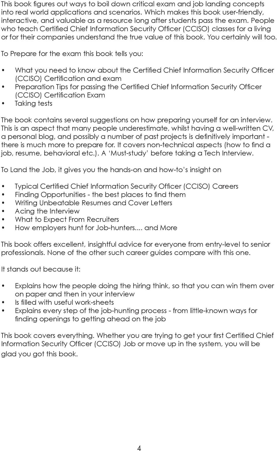 People Who Teach Certified Chief Information Security Officer CCISO Classes For A Living Or