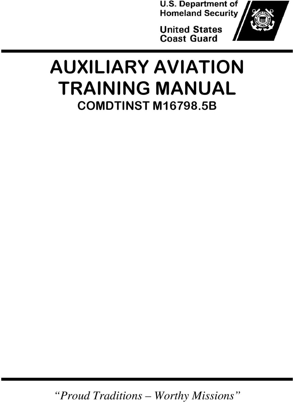 auxiliary aviation training manual comdtinst m b proud traditions