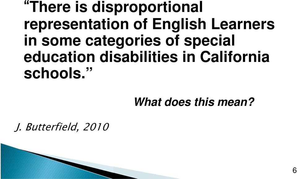special education disabilities in California
