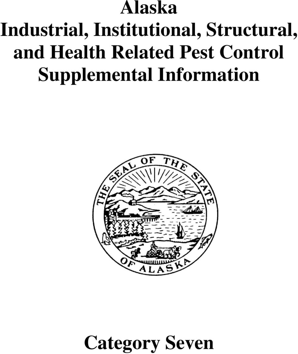 and Health Related Pest