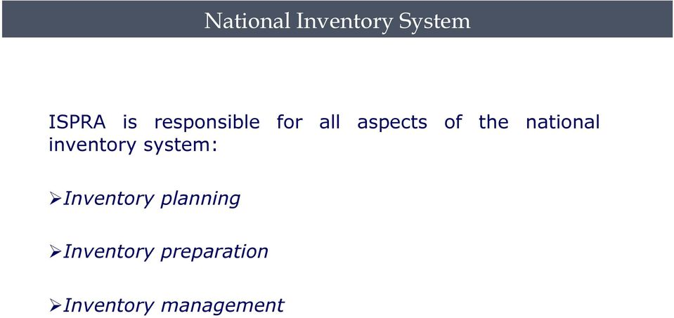 national inventory system: Inventory