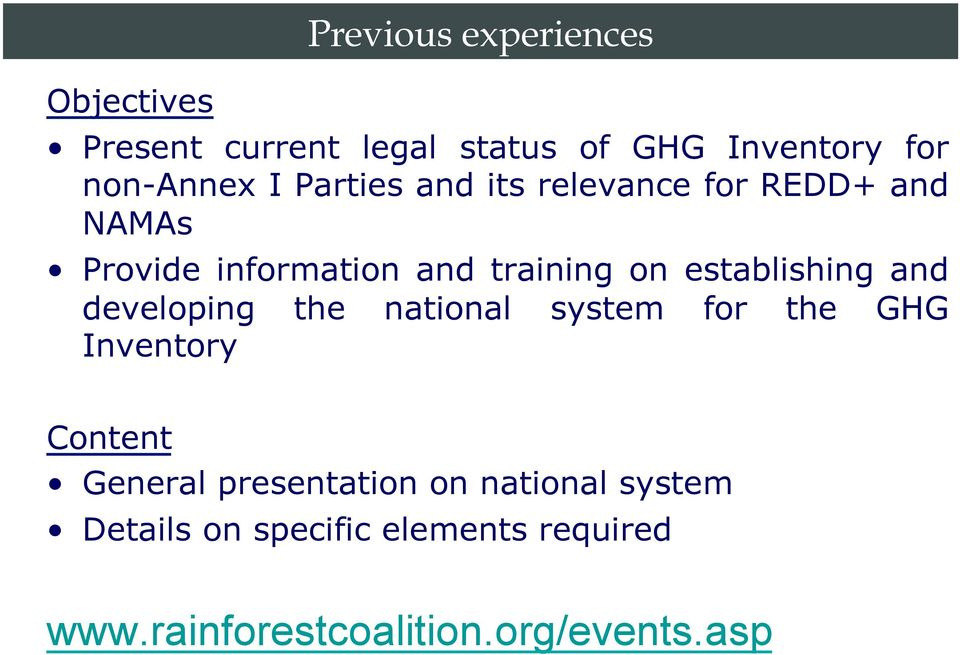 establishing and developing the national system for the GHG Inventory Content General