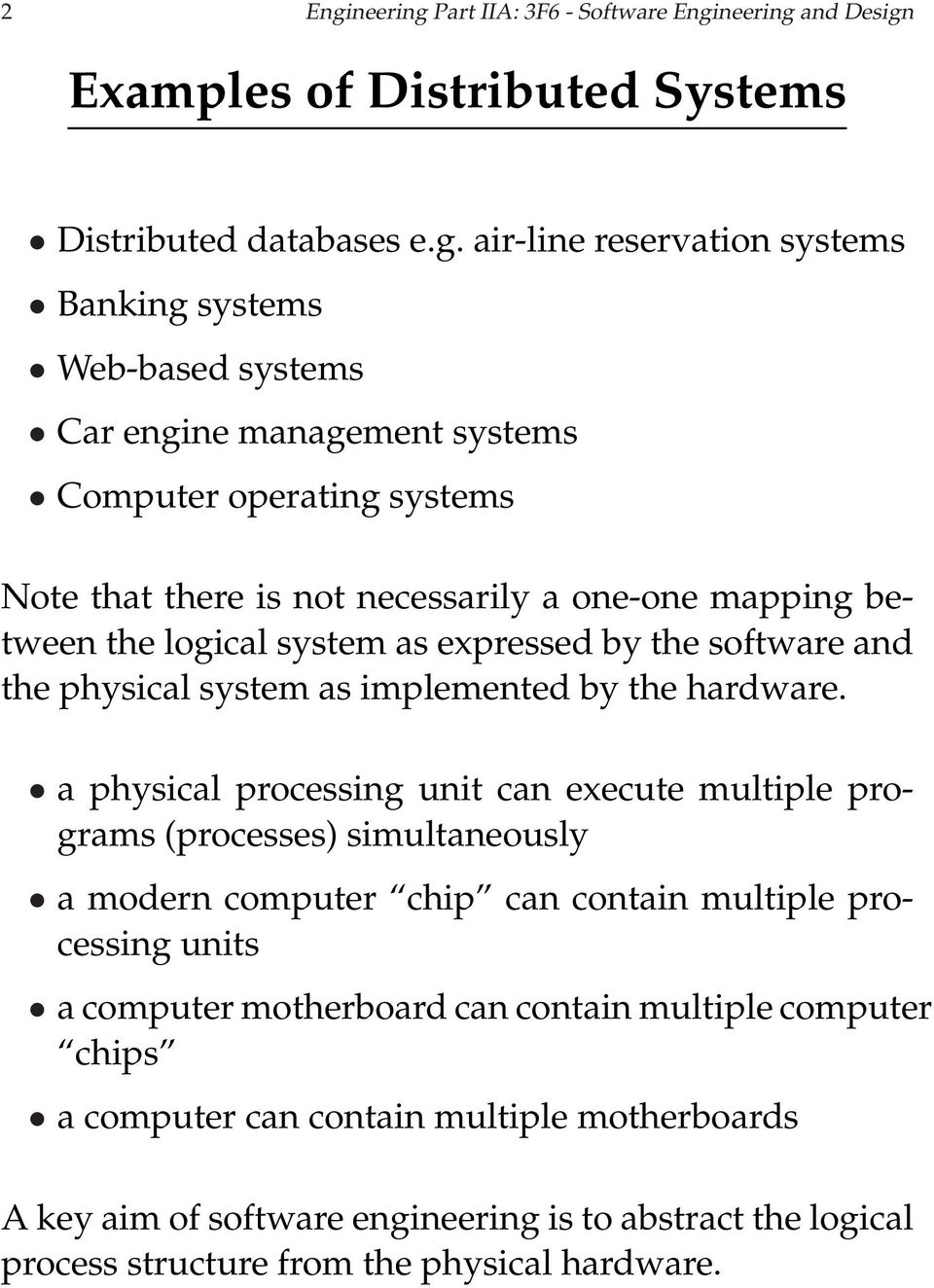 3f6 Software Engineering And Design Handout 10 Distributed Systems I With Markup Steve Young Pdf Free Download