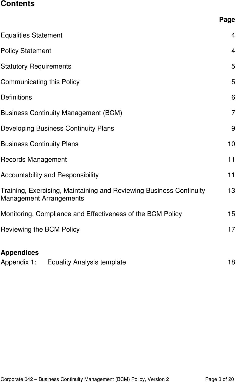 Business Continuity Management (BCM) Policy - PDF