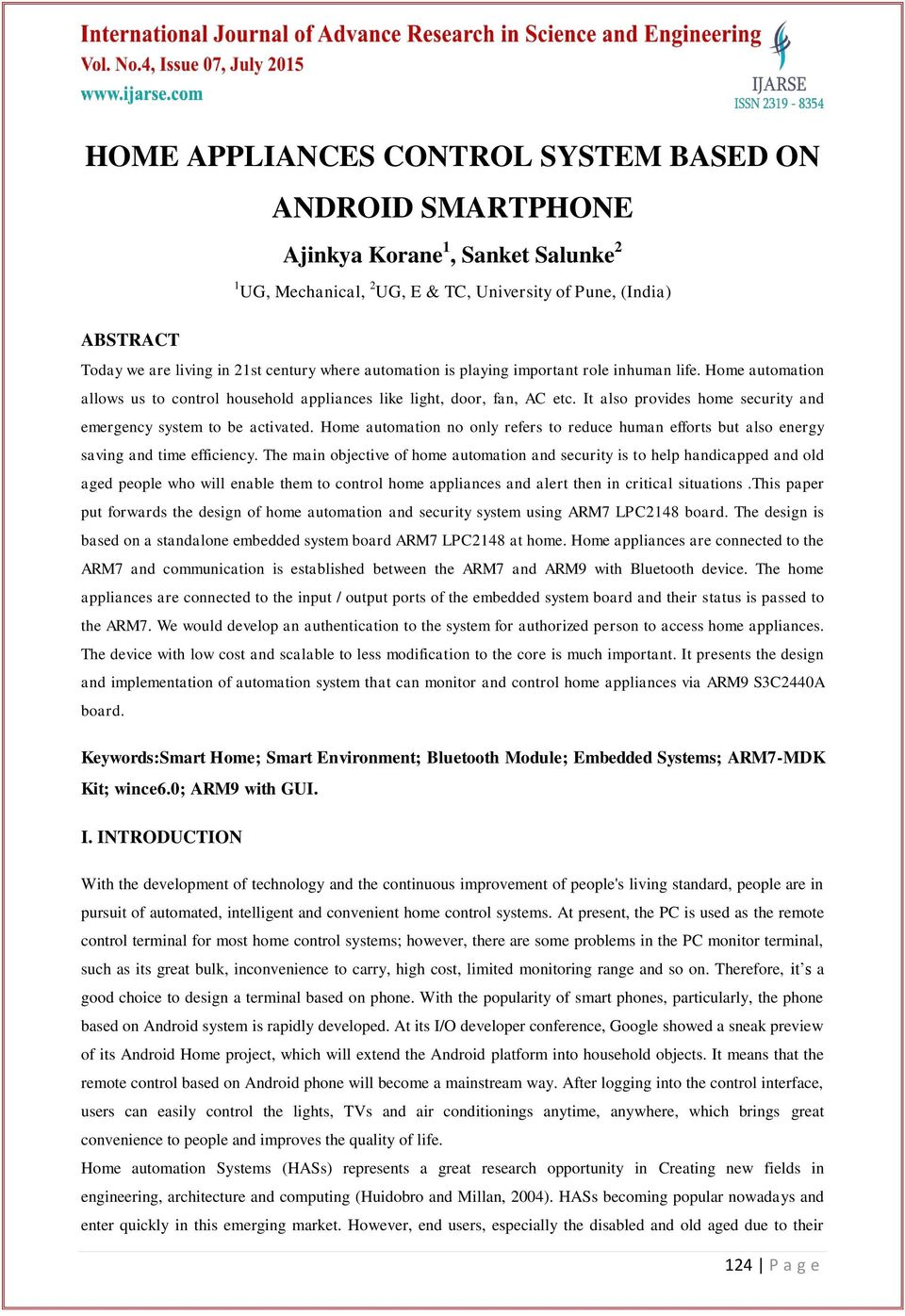 HOME APPLIANCES CONTROL SYSTEM BASED ON ANDROID SMARTPHONE - PDF