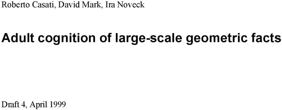 cognition of large-scale
