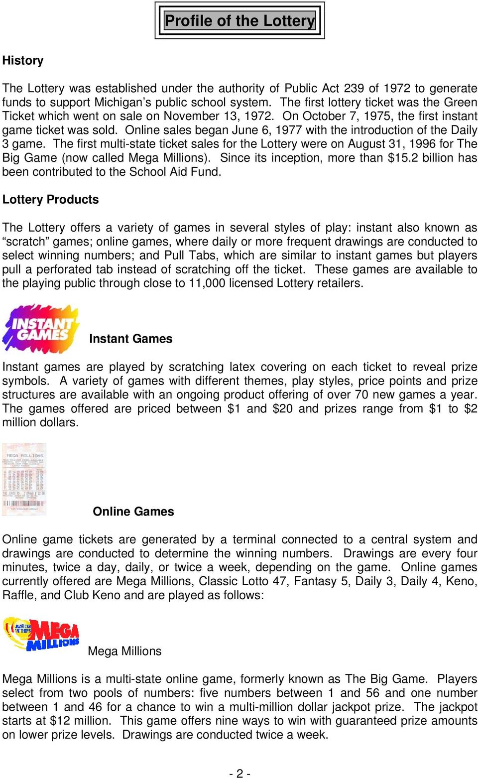 Lottery Support Is All Over the State! - PDF
