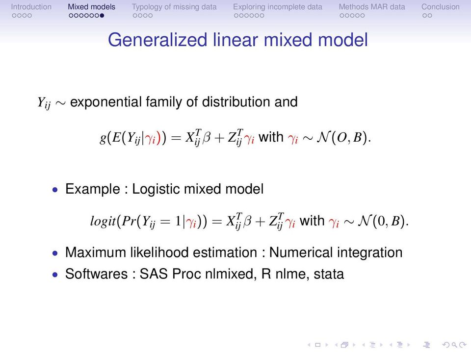 Introduction to mixed model and missing data issues in